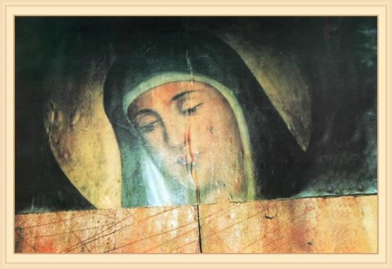 Icoana Maicii Domnului care deschide ochii si plange - Ierusalim