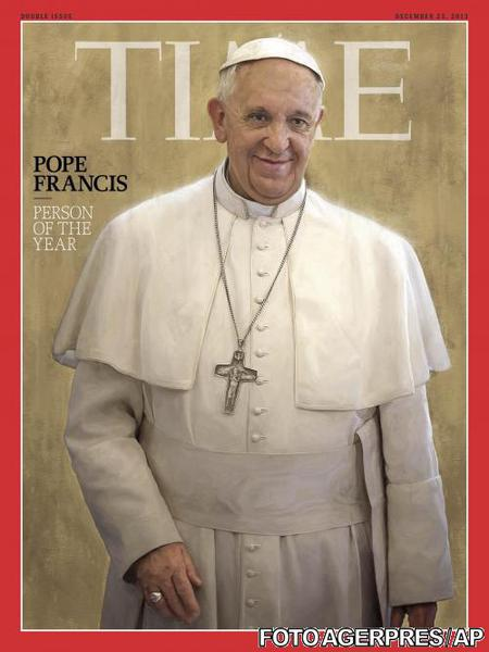 Papa Francisc cu coarne in revista Time
