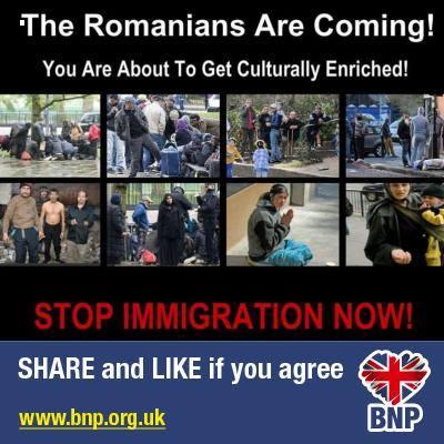 Nationalistii britanici promoveaza asocierea voita dintre ROMANI si TIGANI