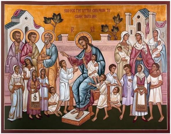 icoana-Hristos-si-copiii