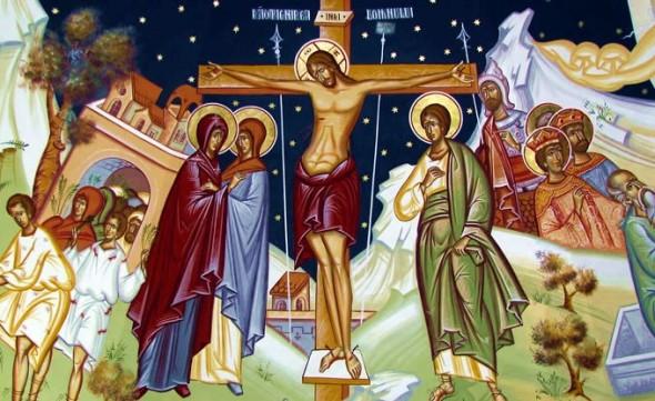 mantuitorul pe cruce