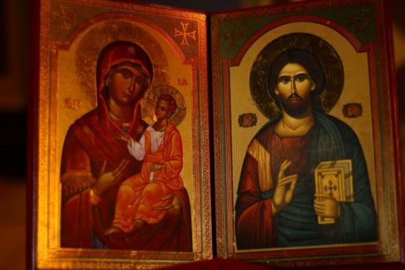Icoana Mantuitorului si a Maicii Domnului