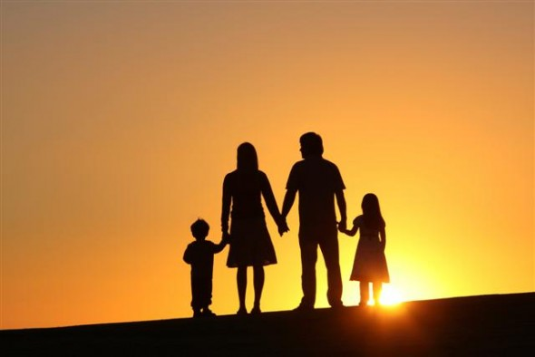 family_sunset