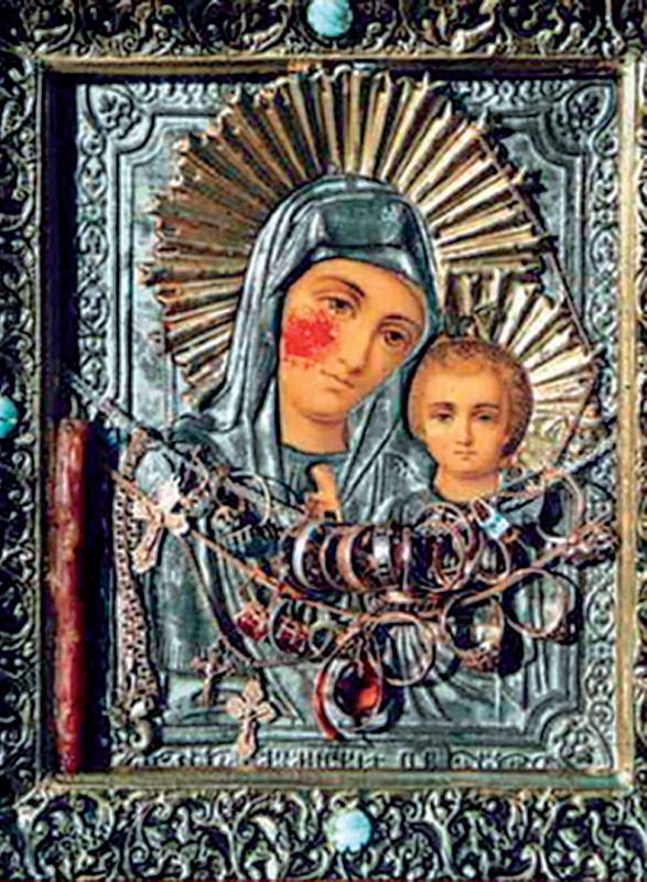 Icoana sângerândă a Maicii Domnului din Log, Rusia
