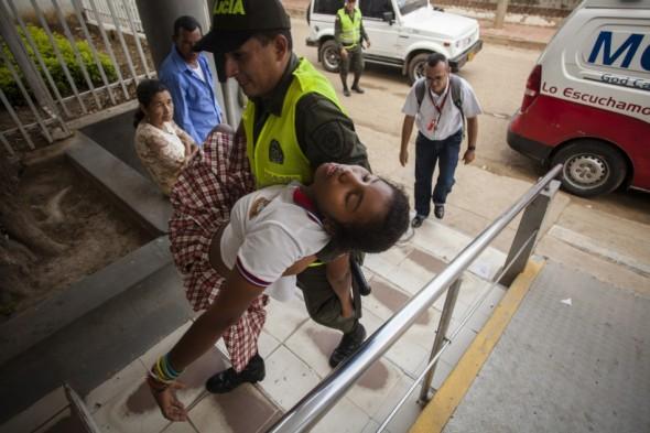 COLOMBIA-HEALTH-VACCINE-PAPILLOMAVIRUS-PROTEST