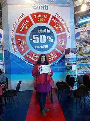Certificatul câștigat de Larisa Negru // FOTO: zdg.md
