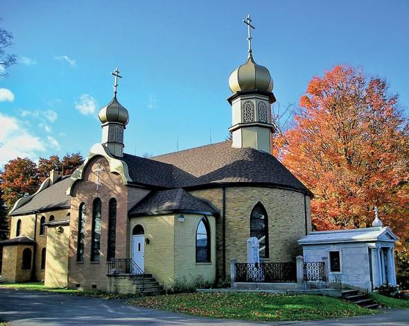 Biserica Mănăstirii Sfântul Tihon de Zadonsk, Waymart, Pennsylvania