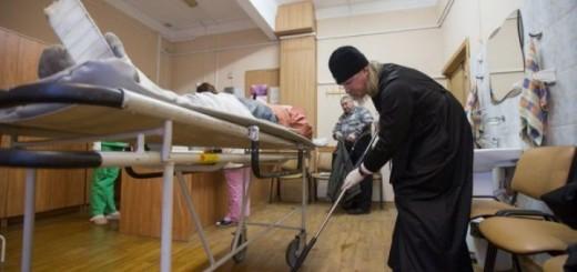 mitropolitul marc arhiepiscop de ryazan spala saloane spital curatenie 2