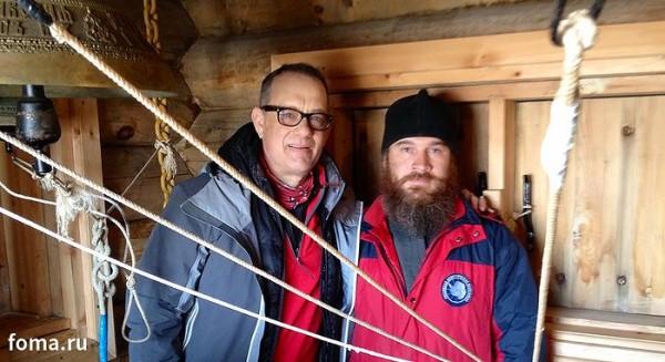 tom hanks in biserica ortodoxa ruseasca antarctica