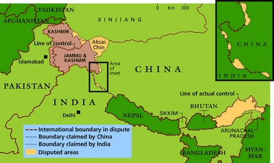 India-China-Border-Map