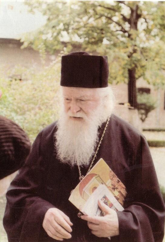 Parintele Sofian Boghiul la manastirea Antim anul 1997