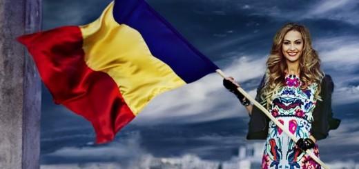 Româncă-cu-steagul-României-în-mână