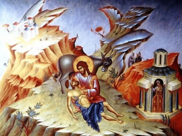cel-cazut-intre-talhari-Iisus-Hristos